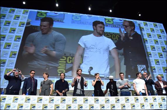 Avengers Age of Ultron cast greet the fans